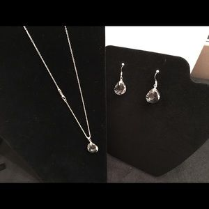 Jewelry - Sterling Silver & Crystal Necklace & Earring set
